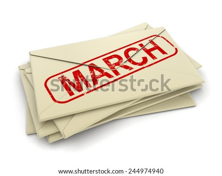march letters  (clipping path included)