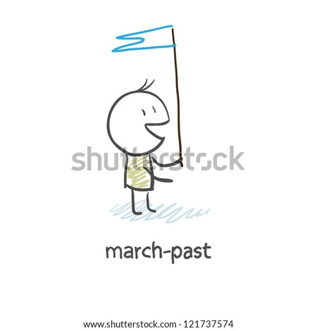 march-past - stock photo