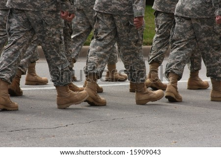 Marching soldiers