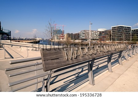 Marco Polo Terraces in the Hafencity in Hamburg, Germany