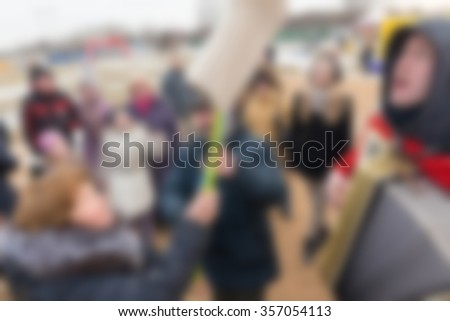 Mardi gras celebration theme creative abstract blur background with bokeh effect