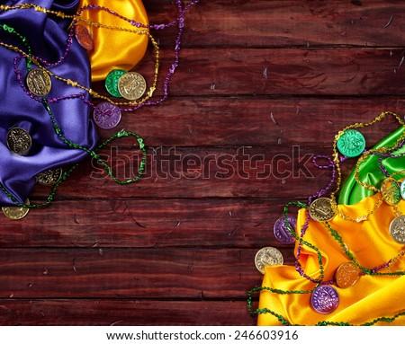 stock photo: mardi gras cloths