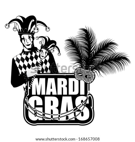 Mardi Gras design element. Jpg.