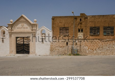 MARDIN, TURKEY- MAY 30, 2015: Syriac Orthodox Church in the old syriac  	district - stock photo