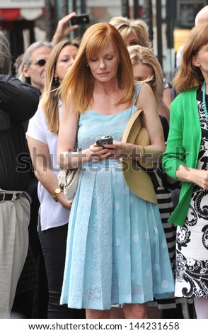 Marg Helgenberger on Hollywood Boulevard where Jerry Bruckheimer was honored with the 2,501st star on the Hollywood Walk of Fame. June 24, 2013  Los Angeles, CA