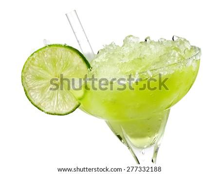 Margarita cocktail, close up - stock photo