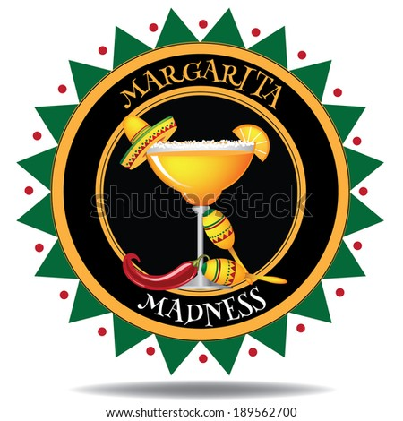 Margarita icon  - stock photo