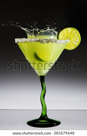 Margarita with a lime and splash