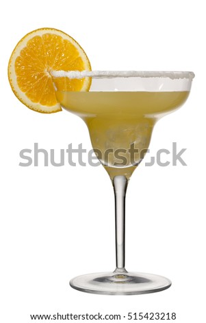Margaritas isolated on white background