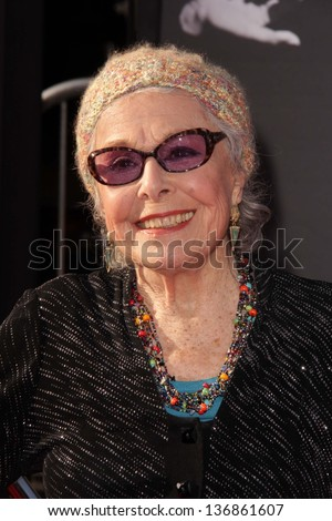Marge Champion at the TCM Classic Film Festival Opening Night Red Carpet Funny Girl, Chinese Theater, Hollywood, CA 04-25-13
