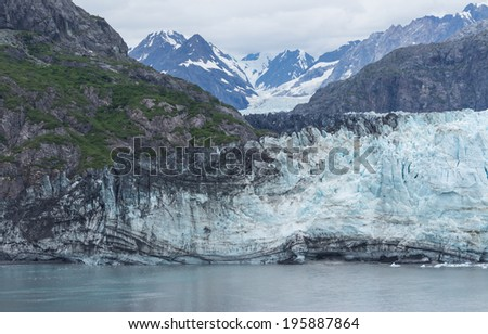 Margerie Glacier at Glacier Bay National Park and Preserve in Alaska, USA - stock photo