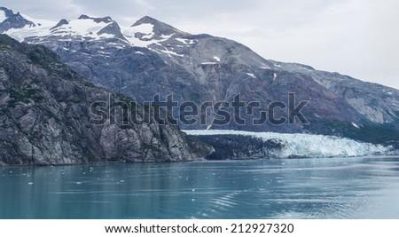 Margerie Glacier at Glacier Bay National Park and Preserve in Alaska, USA - stock photo