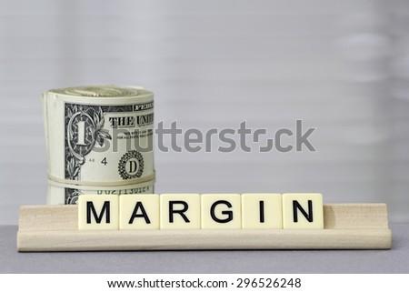 Margin - stock photo