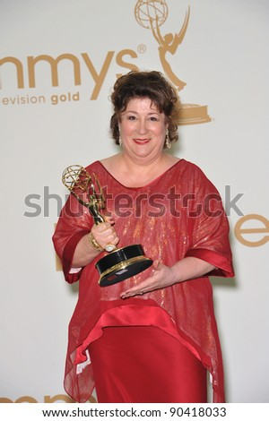 Margo Martindale in the press room at the 2011 Primetime Emmy Awards at the Nokia Theatre L.A. Live in downtown Los Angeles. September 18, 2011  Los Angeles, CA Picture: Paul Smith / Featureflash
