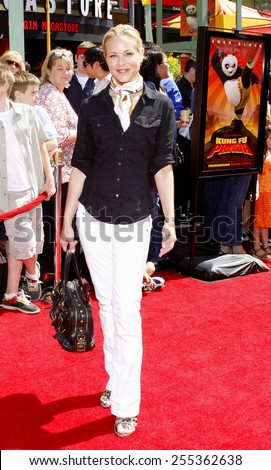 "Maria Bello attends the Los Angeles Premiere of ""Kung Fu Panda"" held at the Grauman's Chinese Theater in Hollywood, California, United States on June 1, 2008.  - stock photo"