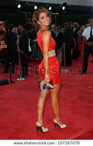 Maria Menounos  at the Los Angeles Premiere of 'Tropic Thunder'. Mann's Village Theater, Westwood, CA. 08-11-08 - stock photo