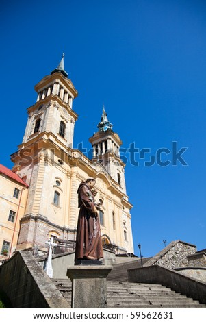 Maria Radna Franciscan Monastery in summer, in Romania.