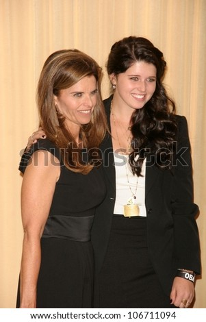 Maria Shriver and her daugher  at the International Women's Media Foundation's Courage In Journalism Awards. Beverly Hills Hotel, Bevelry Hills, CA. 10-16-08