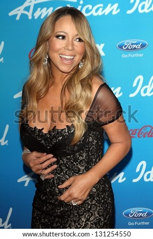 "Mariah Carey at the ""American Idol"" Finalists Party, The Grove, Los Angeles, CA  03-07-13"