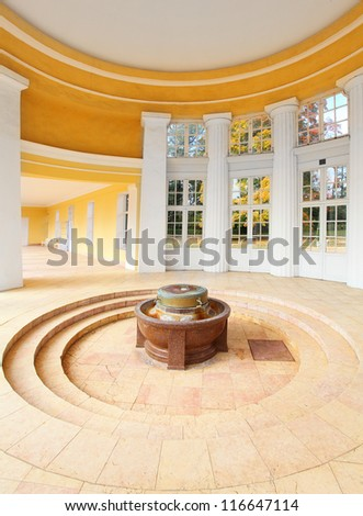 Marianske Lazne Spa, interior of The Ferdinand's Spring pavilion, Czech Republic, Europe - stock photo
