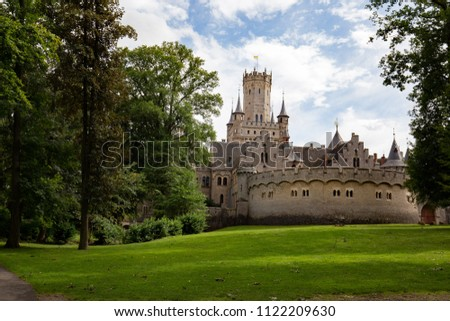 Marienburg Castle Gothic Revival Lower Stock Photo Royalty