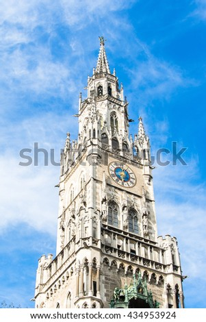 Marienplatz town hall of Munich, Germany - stock photo