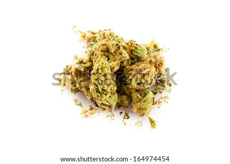 Marihuana  isolated on white background - stock photo
