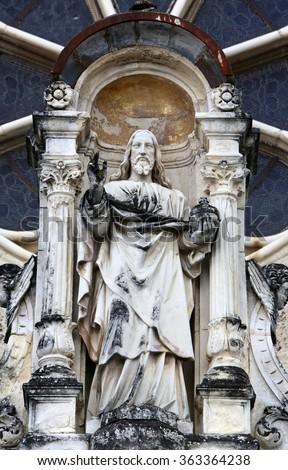 MARIJA BISTRICA, CROATIA - JULY14: Jesus Christ Almighty, basilica Assumption of the Virgin Mary in Marija Bistrica, Croatia, on July 14, 2014 - stock photo
