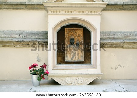 MARIJA BISTRICA, CROATIA - JULY 14: Our Lady of Marija Bistrica, basilica Assumption of the Virgin Mary in Marija Bistrica, Croatia, on July 14, 2014 - stock photo