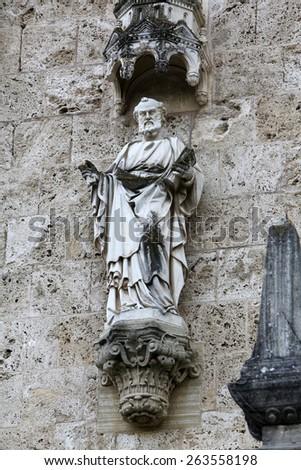 MARIJA BISTRICA, CROATIA - JULY 14: Saint Peter, basilica Assumption of the Virgin Mary in Marija Bistrica, Croatia, on July 14, 201 - stock photo