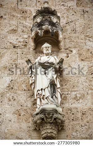 Marija Bistrica, Croatia - May 1, 2015: Saint Peter, basilica Assumption of the Virgin Mary in Marija Bistrica. - stock photo