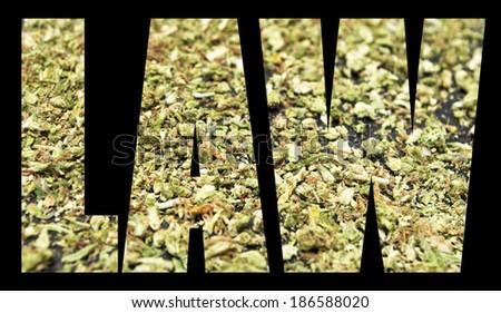 Marijuana and Cannabis Law - stock photo