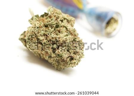 Marijuana Bowl, Glass Pipe  - stock photo