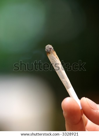 Marijuana cigarette - stock photo