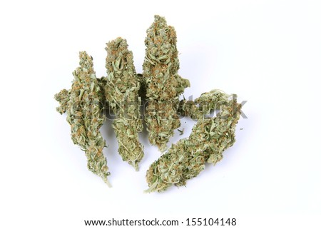 Marijuana flower sticks isolated - stock photo