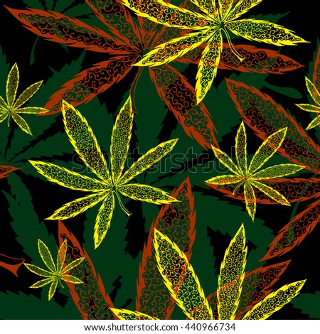 Cannabinol stock photos royalty free images vectors for Weed leaf template