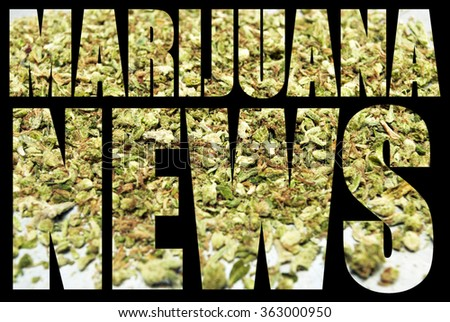 Marijuana News - stock photo