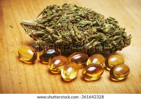 Marijuana Pills  - stock photo