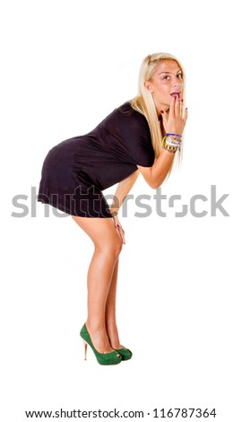 marilyn pose for a nice blonde - stock photo