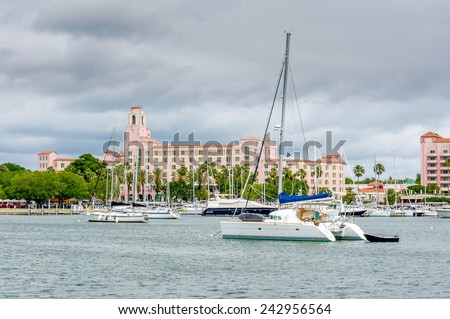 Marina at St. Petersburg, Florida, US - stock photo