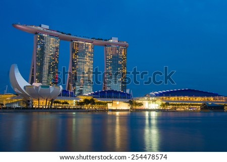 Marina Bay Sand Hotel in Singapore, February 8, 2015