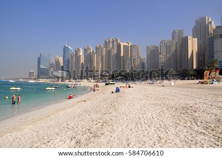 Marina beach in Dubai