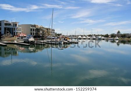 Marina in Glenelg, Adelaide, South Australia - stock photo