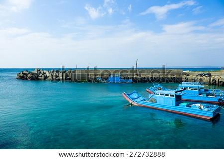 Marina jetty - stock photo