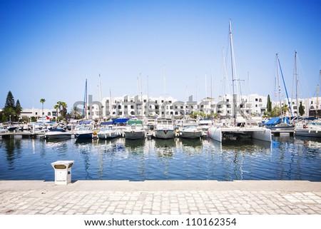 Marina Port El Kantaoui, Tunisia. - stock photo