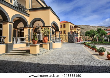 Marina resort at Conical on east coast of Madeira Island, Portugal