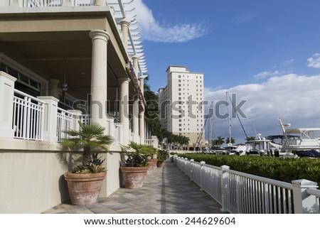 Marina resort in Florida, Cape Coral - stock photo