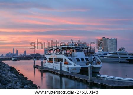 Marina Yacht Club in Thailand - stock photo