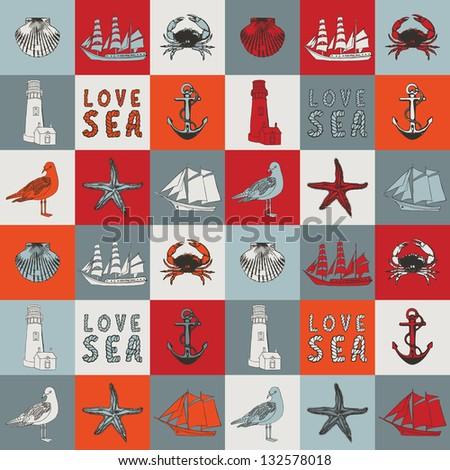 Marine background. - stock photo