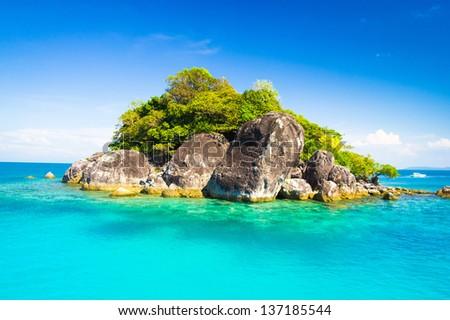 Marine Fantasy Idyllic Seascape - stock photo